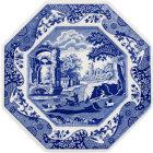 Buy Spode Blue Italian Octagonal Platter 24cm at Louis Potts