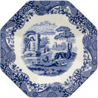 Buy Spode Blue Italian Octagonal Platter 35.5cm at Louis Potts