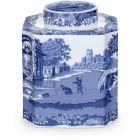 Buy Spode Blue Italian Tea Caddy at Louis Potts