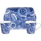 Buy Spode Blue Room Sunflower Mug Pair & Tray Set at Louis Potts