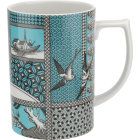 Buy Spode Patchwork Willow Coffee Mug Teal at Louis Potts