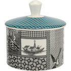 Buy Spode Patchwork Willow Covered Sugar Box Teal at Louis Potts