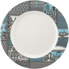 Buy Spode Patchwork Willow Plate 28cm Teal at Louis Potts