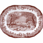 Buy Spode Winter's Scene Oval Platter 35cm at Louis Potts