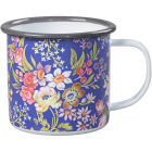 Buy Wild and Wolf Mugs Enamel Mug V&A Kilburn Blue at Louis Potts