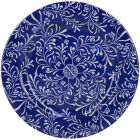 Buy Victoria and Albert Museum The Cole Collection Side Plate Floral Navy at Louis Potts