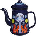 Buy Wild and Wolf Folklore Coffee Pot Blue Night & Day at Louis Potts
