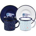 Buy Wild and Wolf Folklore Espresso Cup & Saucer Set of 2 Night & Day at Louis Potts