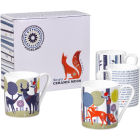Buy Wild and Wolf Folklore Mug Ceramic Set of 4 Night & Day at Louis Potts