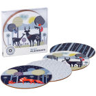 Buy Wild and Wolf Folklore Round Placemat Set of 4 Night & Day at Louis Potts