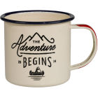 Buy Wild and Wolf Mugs Enamel Mug Cream Gentleman's Hardware at Louis Potts