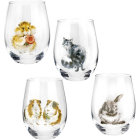 Buy Wrendale Giftware Tumbler Glass Set of 4 Assorted at Louis Potts