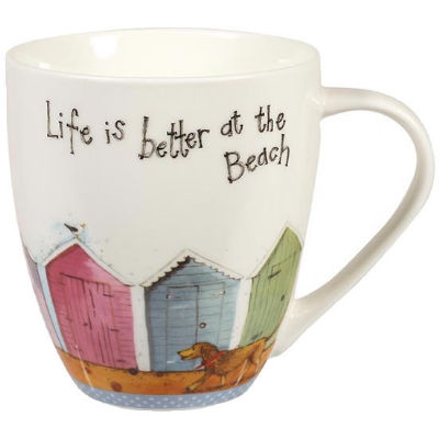 Alex Clark Mugs Mug Large Life Is Better At The Beach