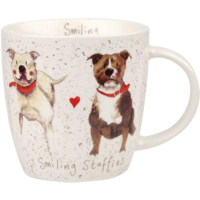 Alex Clark Mugs Mug Tub Smiling Staffies