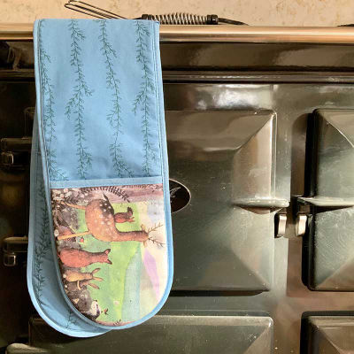 Alex Clark Oven Gloves Double Oven Glove Forest Friends