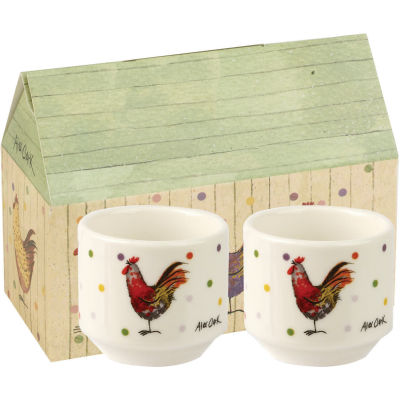 Alex Clark Rooster Collection Eggcup Stacking Set of 2