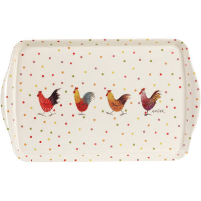 Alex Clark Rooster Collection Melamine Tray