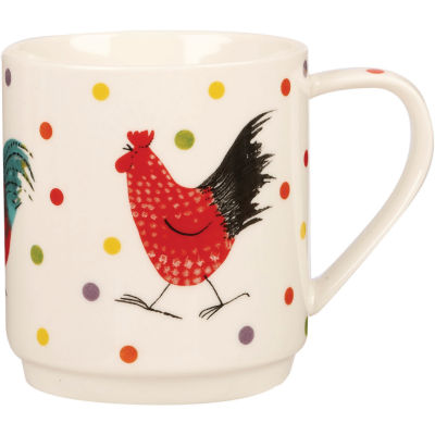 Alex Clark Rooster Collection Mug Stacking Set of 2