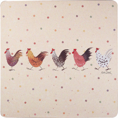 Alex Clark Rooster Collection Placemat Set of 4