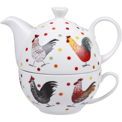 Alex Clark Rooster Collection Tea For One