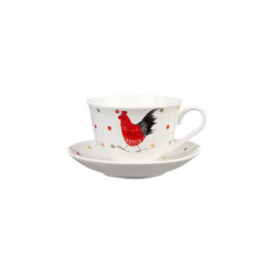 Alex Clark Rooster Collection Teacup & Saucer