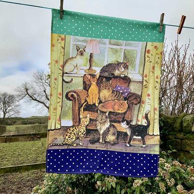 Alex Clark Tea Towels Tea Towel Cat House