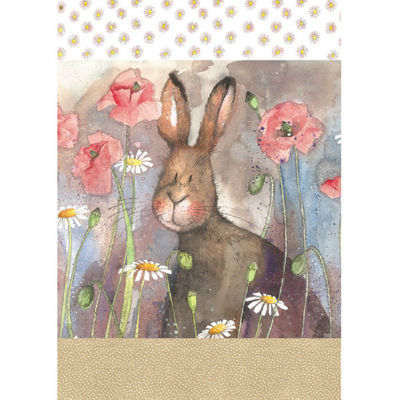 Alex Clark Tea Towels Tea Towel Hare & Poppies