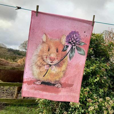 Alex Clark Tea Towels Tea Towel Herbert Hamster