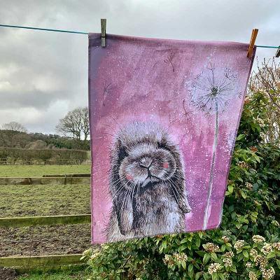 Alex Clark Tea Towels Tea Towel Misty Rabbit
