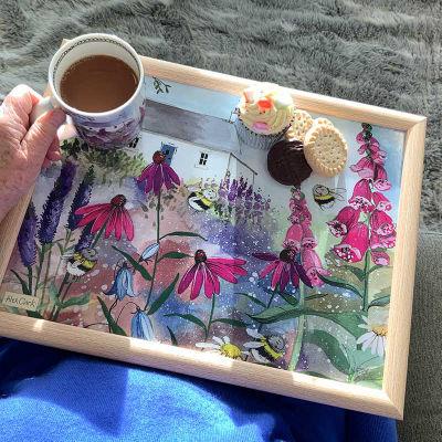 Alex Clark Trays Lap Tray Bee Garden