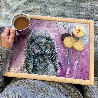 Alex Clark Trays Lap Tray Misty Rabbit