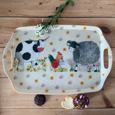 Alex Clark Trays Tray Large Daisyfield Farm