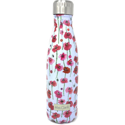 Alex Clark Water Bottles Water Bottle Poppies