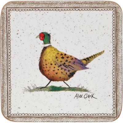 Alex Clark Wildlife Coaster Set of 6 Wildlife Pheasant