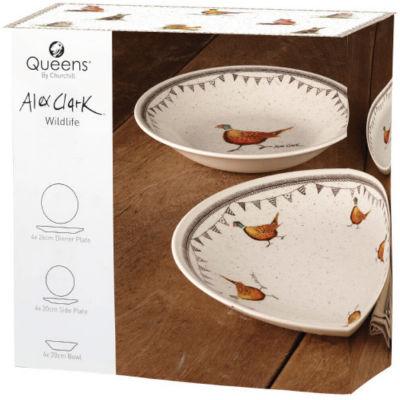 Alex Clark Wildlife Dinner Set 12 Piece