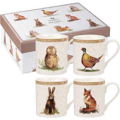 Alex Clark Mugs Mug Small Wildlife Set of 4
