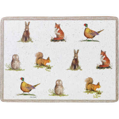 Alex Clark Wildlife Placemat Set of 6 Wildlife