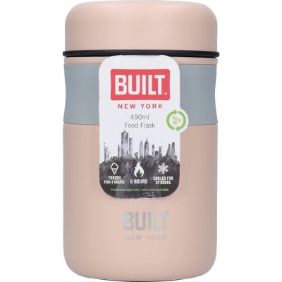 Built Hydration Food Flask Pale Pink