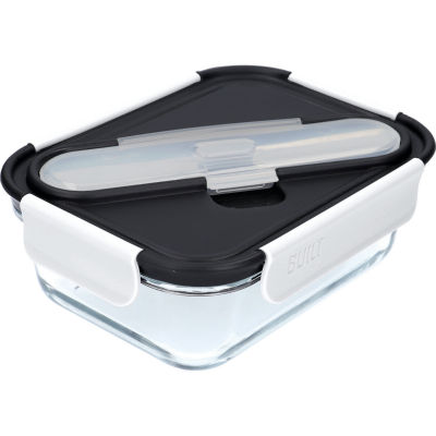 Built Hydration Glass Lunch Box Large 0.9L Classic Black