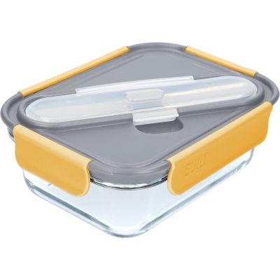 Built Hydration Glass Lunch Box Large 0.9L Stylist Grey