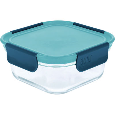 Built Hydration Glass Lunch Box Medium 0.7L Retro Blue