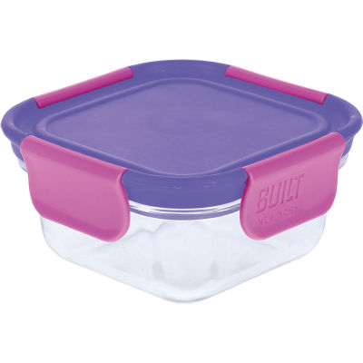 Built Hydration Glass Lunch Box Small 0.3L Active Purple
