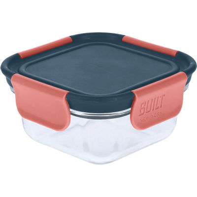 Built Hydration Glass Lunch Box Small 0.3L Tropic Blue