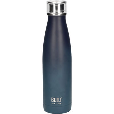 Built Hydration Insulated Bottle 0.5L Black & Blue Ombre