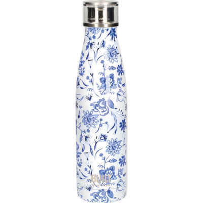 Built Hydration Insulated Bottle 0.5L Blue Floral