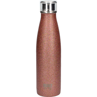 Built Hydration Insulated Bottle 0.5L Rose Gold Glitter