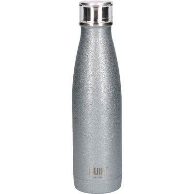 Built Hydration Insulated Bottle 0.5L Silver Glitter
