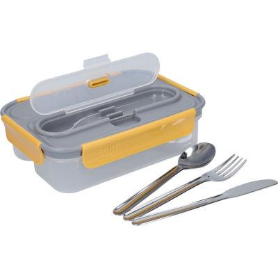 Built Hydration Lunch Box & Cutlery Stylist Grey