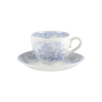 Burleigh Blue Asiatic Pheasants  Teacup & Saucer