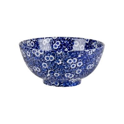 Burleigh Blue Calico Chinese Bowl Large